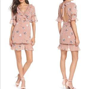 Bardot Tarryn Floral Lattice Open Back Dress 4